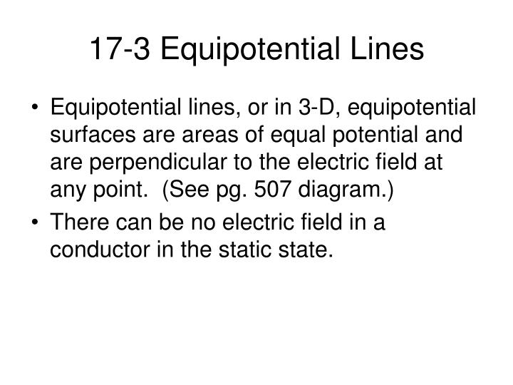 17-3 Equipotential Lines