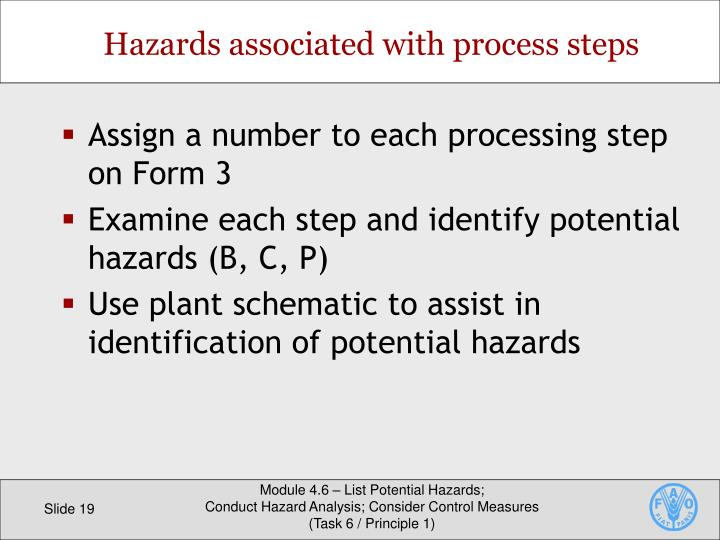Assign a number to each processing step on Form 3