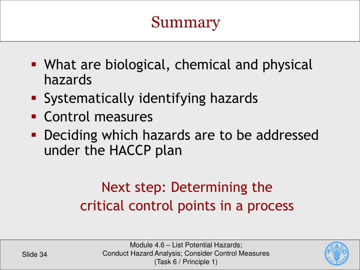 What are biological, chemical and physical hazards