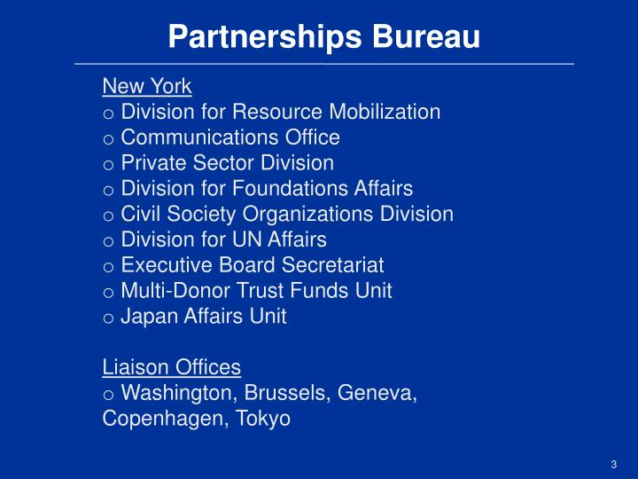 Partnerships Bureau