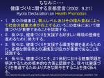 2002 9 21 kyoto declaration on health promotion