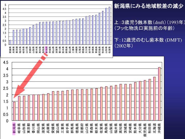 新潟県にみる地域較差の減少