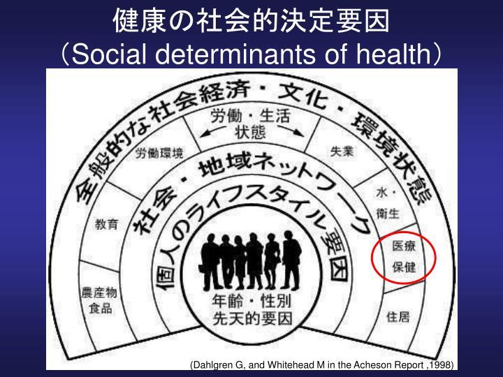 健康の社会的決定要因