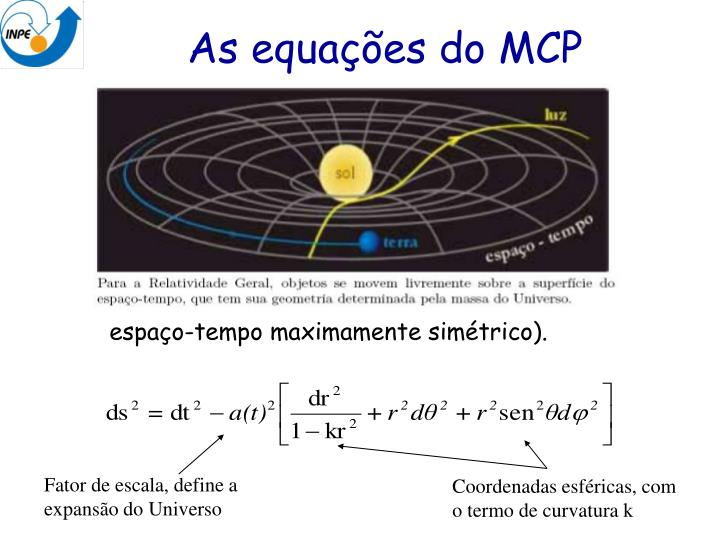 As equações do MCP
