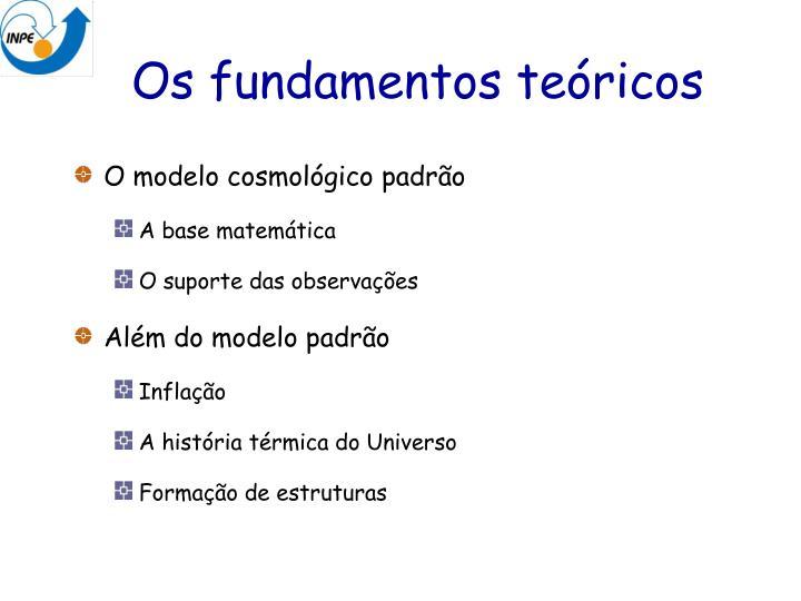 Os fundamentos teóricos