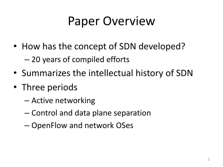 Paper overview