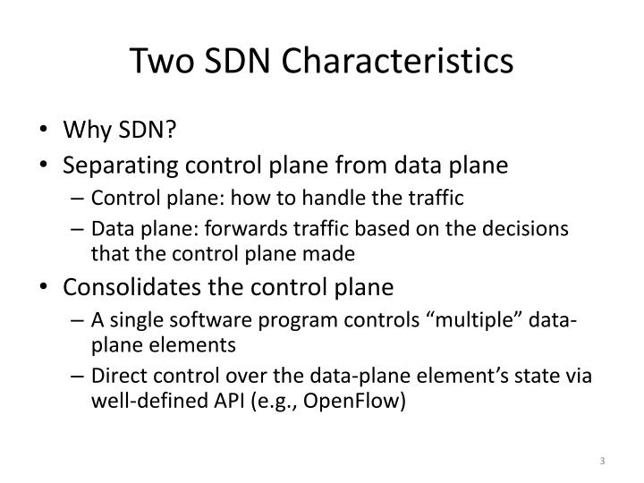 Two sdn characteristics
