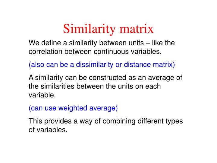 Similarity matrix