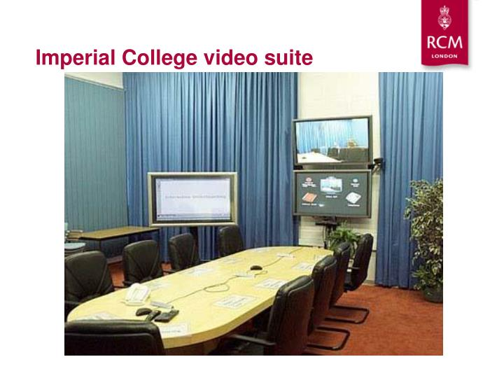 Imperial College video suite