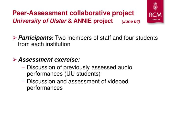 Peer-Assessment collaborative project