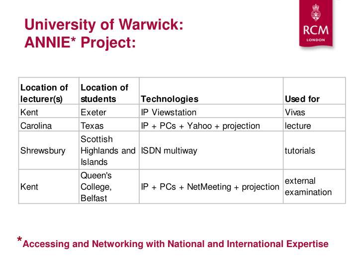 University of Warwick: