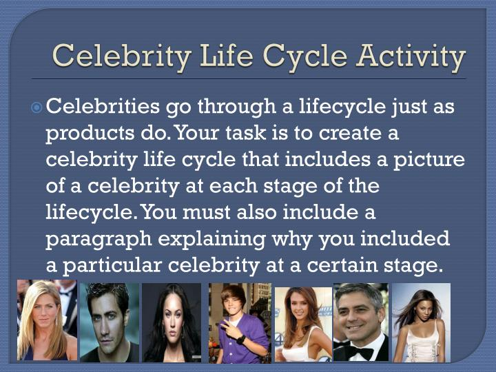 Celebrity Life Cycle Activity