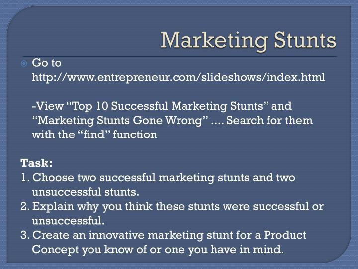 Marketing Stunts