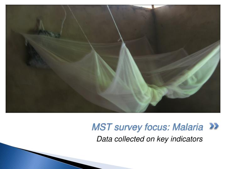 MST survey focus: Malaria