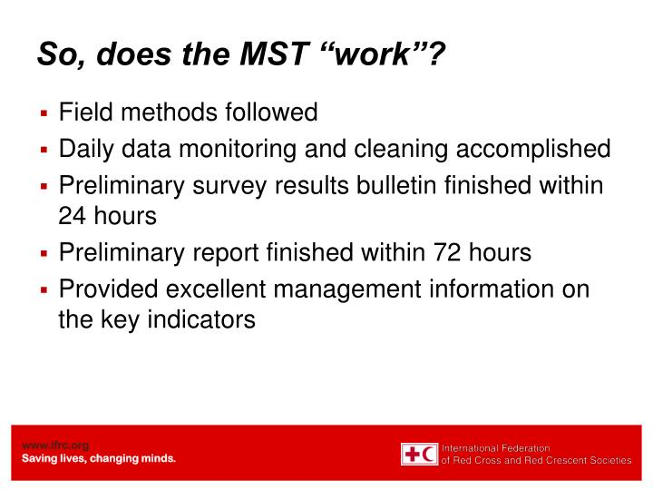"So, does the MST ""work""?"
