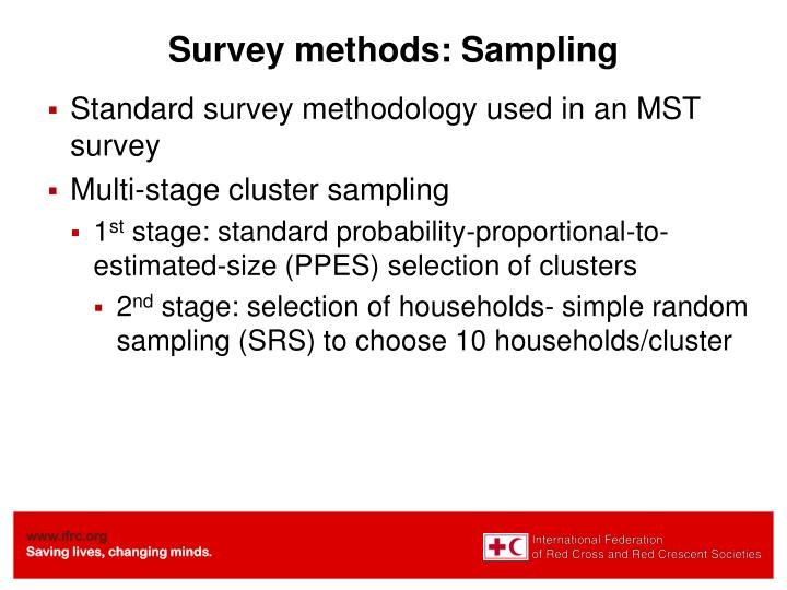 Survey methods: Sampling