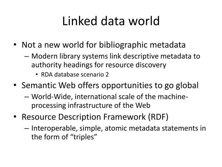 Linked data world