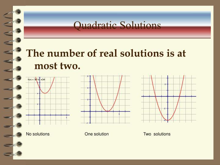 Quadratic Solutions