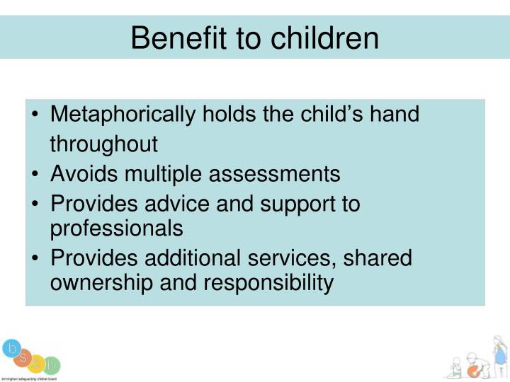 Benefit to children