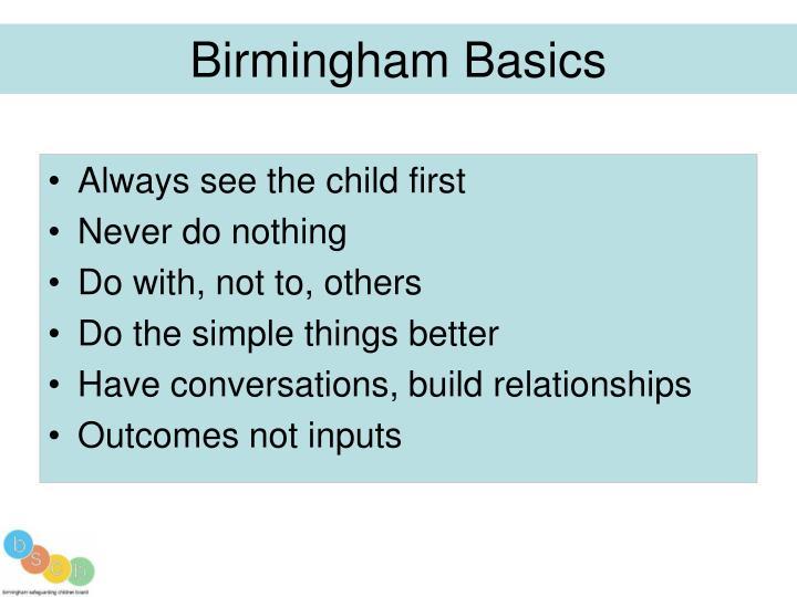 Birmingham Basics