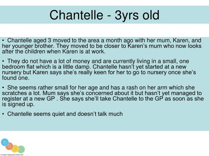 Chantelle - 3yrs old