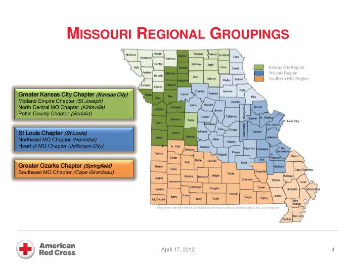 Missouri Regional Groupings