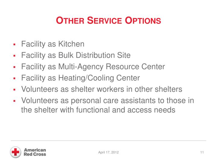Other Service Options