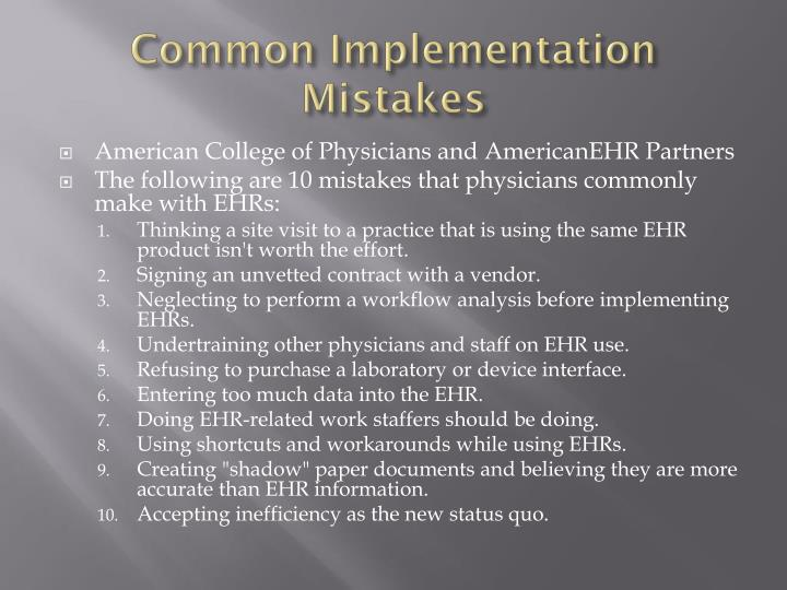 Common Implementation Mistakes