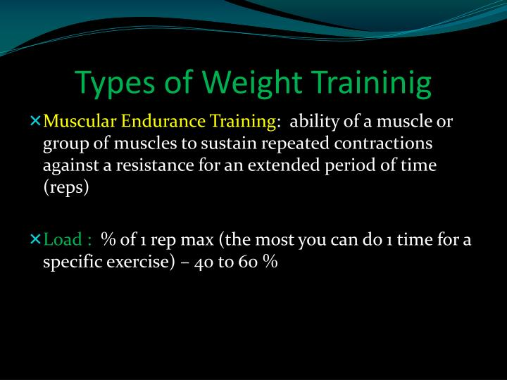 Types of Weight Traininig