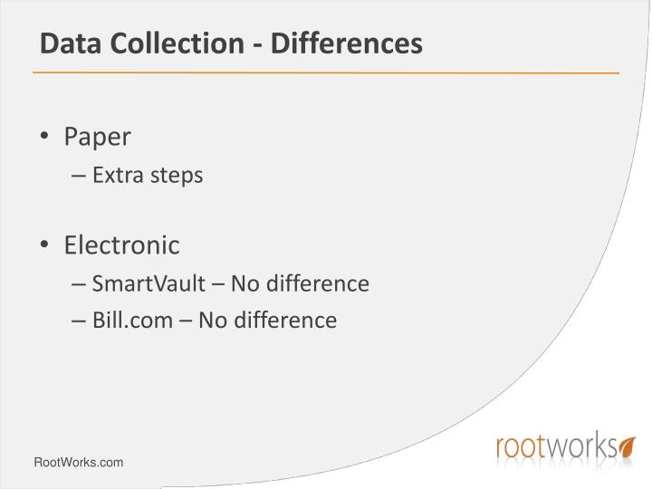 Data Collection - Differences
