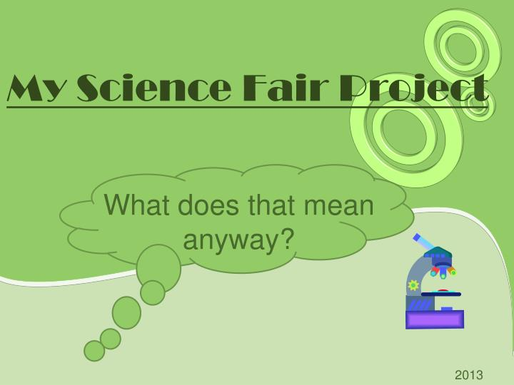 How to write an abstract for a science project