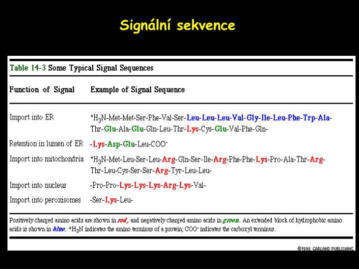 Signální sekvence