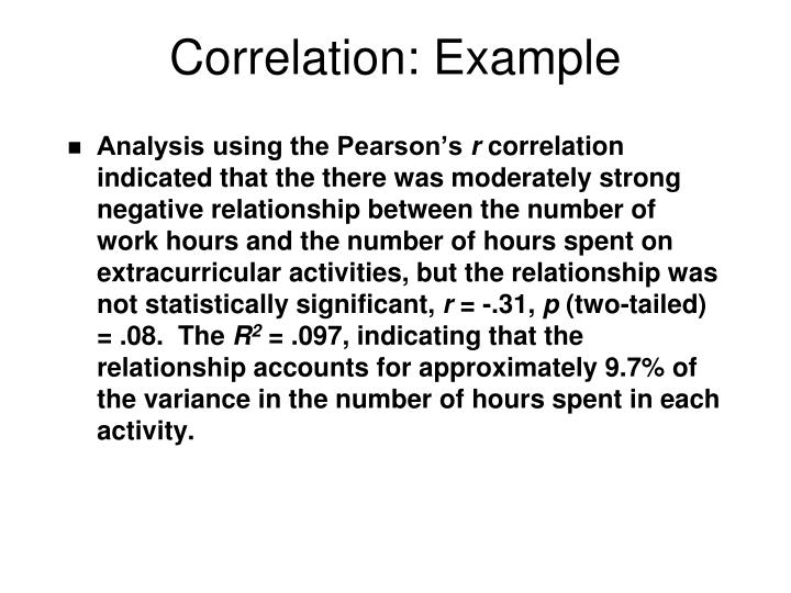 Correlation: Example