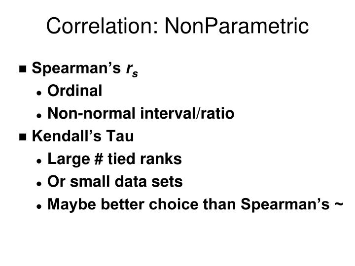 Correlation: NonParametric
