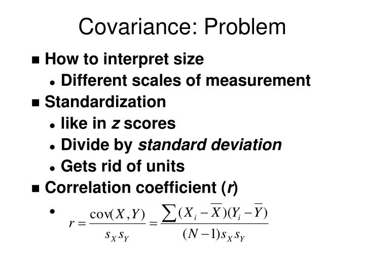 Covariance: Problem