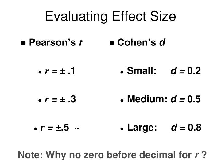 Evaluating Effect Size
