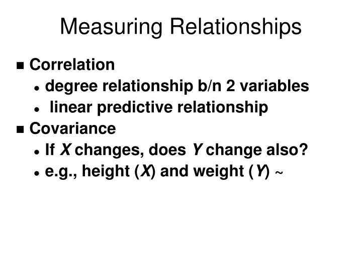 Measuring Relationships