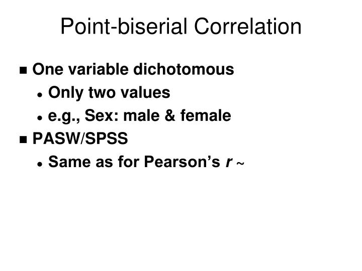 Point-biserial Correlation