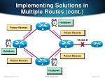 implementing solutions in multiple routes cont1