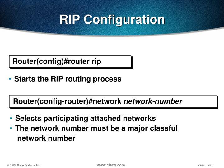 RIP Configuration