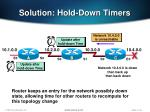 solution hold down timers
