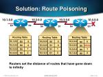 solution route poisoning