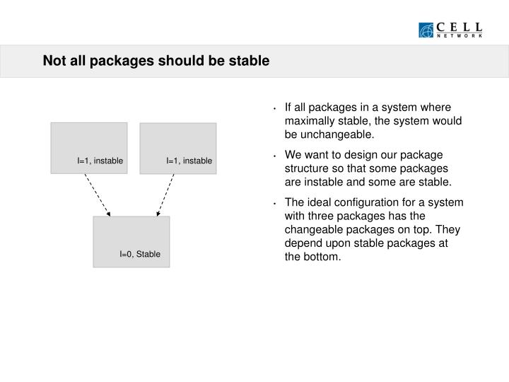 Not all packages should be stable