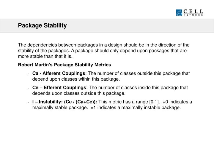 Package Stability