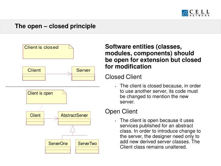 The open – closed principle
