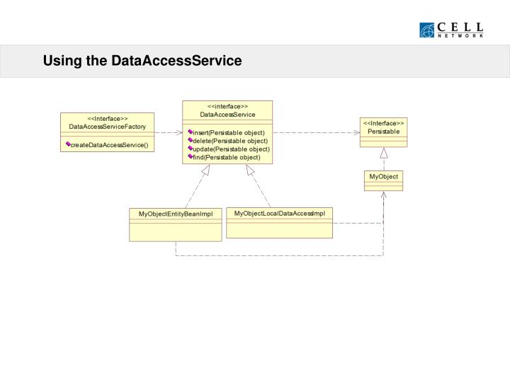 Using the DataAccessService