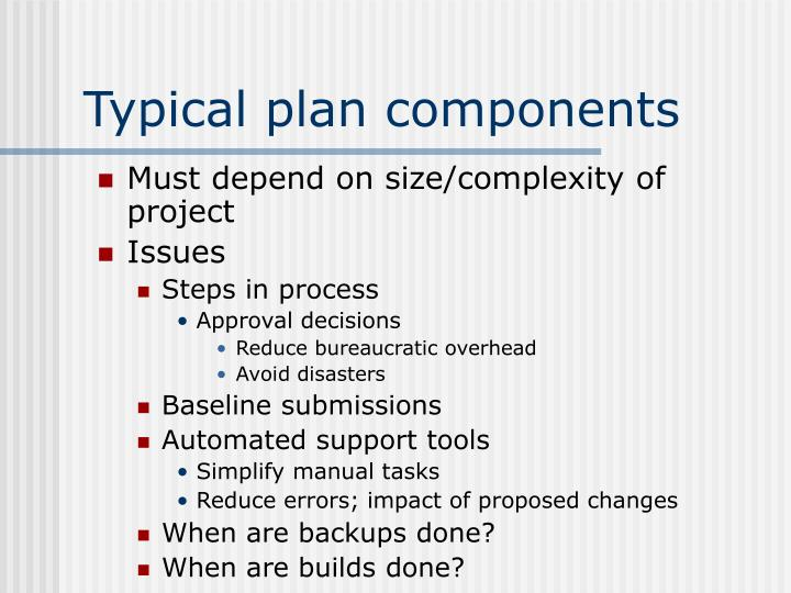 Typical plan components