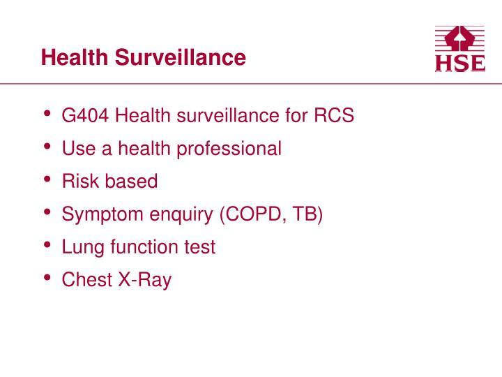 Health Surveillance