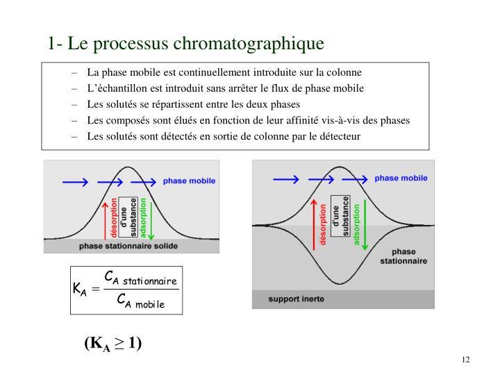 1- Le processus chromatographique