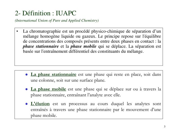 2 d finition iuapc international union of pure and applied chemistry